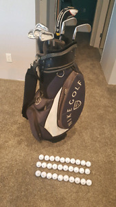 Nike 4-PW Forged Irons / Cart Bag / Taylormade Rescue