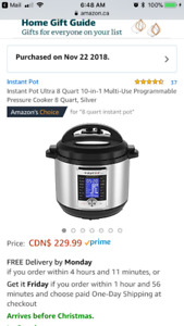 Large 8 quart Instant pot Ultra!! New in box!