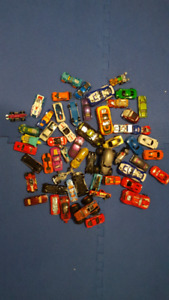 Various toy cars including Hot Wheels