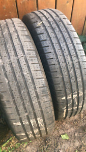 M+S 215/70R16 100S Continental Summer Tires - great condition