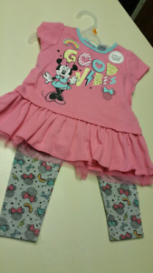 "12 to 18 Months...Baby girl ""Minnie Mouse,"" set..NEW WITH TAGS"