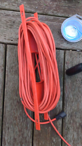 100 foot extension cord with mount - great shape.