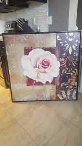 Rose picture and frame