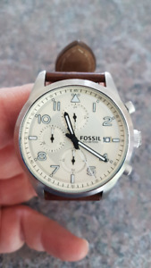FOSSIL MONTRE WATCH NEW NEUF INOX PILOTE CLASSIQUE HOMME