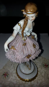ANTIQUE PORCELAIN DOLL IN LACE SKIRT Kitchener / Waterloo Kitchener Area image 1