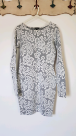 River Island jacquard bodycon dress