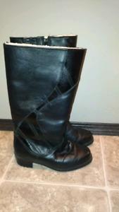 Sheep skin winter boots