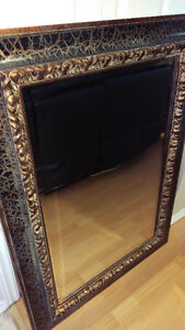 """ Large Decorative Beveled Glass Mirror"" Cambridge Kitchener Area image 1"