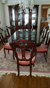 Dining room set solid cherry wood
