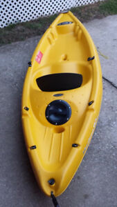 7' yellow kayak( seat on top)