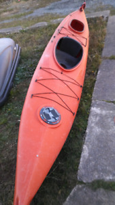 Kayak with rudder