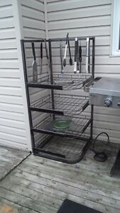 Galvanized Steel 4 Shelf Corner Storage Unit - $45