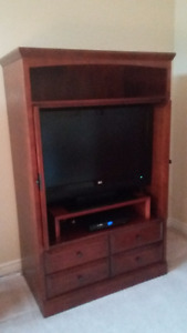 Entertainment Unit - Solid Wood, 4 Drawers, 2 Doors for Sale