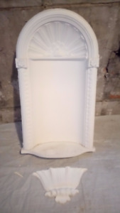 Primed Polyurethane Wall Niche Crown Moulding