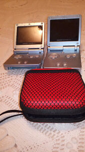 GameBoy Advanced SP Pearl Blue edition AGS 101
