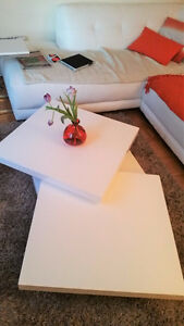 COFFEE TABLE WHITE STRUCTUBE / TABLE BASSE BLANCHE