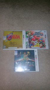 Metroid, Super Smash and Zelda for Nintendo 3DS