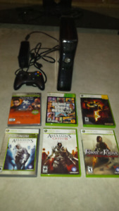 Xbox 360, wireless controller and 6 games