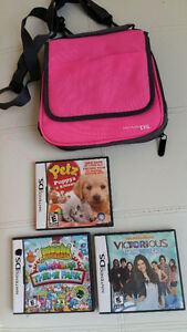 DS case with 3 games
