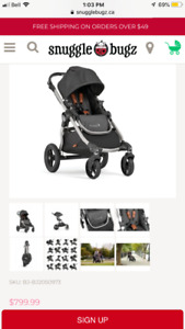 City select Stroller with double seat