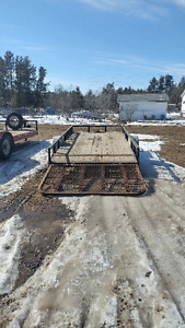 14ft trailer with enclosed ramp
