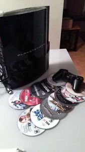 120 GB PS3 (includes controller, cables, and 14 games) - Kingston Kingston Area image 1