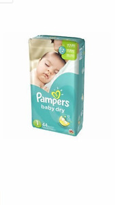2 packs of Pampers size 1