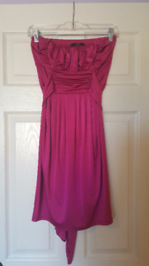Women's Pink Strapless Dress (Size S/P)
