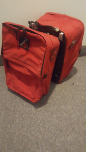 Vintage Pair of Cannondale Red front Panniers