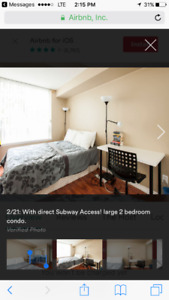 Master bdr w/ private washroom right on subway line