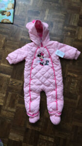9-12 month girls Disney snowsuit new with tags