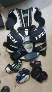 Children's hockey gear