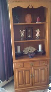 bookcase: Canadian-made maple Roxton bookcase/display case