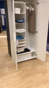 wardrobe with 3 doors , white