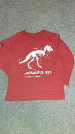 2 year old boy red t-shirt