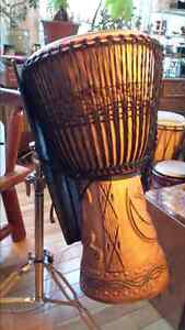 DJEMBE DRUM , Heavy Duty Stand and Carry Bag Cambridge Kitchener Area image 8