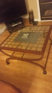BOMBAY Gold rod iron coffee table