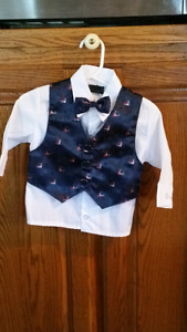Baby boy 3 months  dressy top with bow tie...NEW