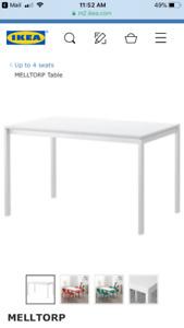 IKEA Melltorp kitchen/dining table - white