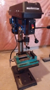 "Mastercraft 10"" Drill Press w/Grizzly Vise"
