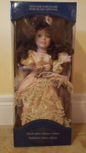 """Handcrafted Collectors Edition 16"""" Genuine Porcelain Doll"""