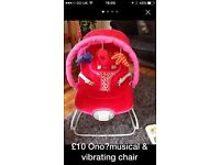 Baby musical & vibrating chair £5 REDUCED