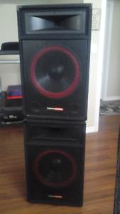 Two 800 watt PS 15 speakers