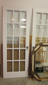FRENCH DOORS WITH BEVELLED GLASS Kitchener / Waterloo Kitchener Area image 2