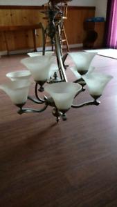 Nickel chandelier