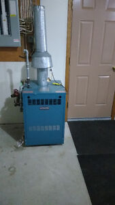Boiler for heating house and garage