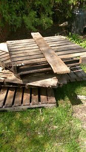 Pallets from torn down shed