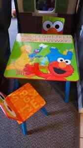 sesame Street table and 2 chairs