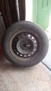 "16"" all season tires w/ rims, TPMS, and Sienna wheel covers"