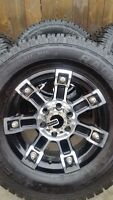 4 MAMBA RIMS WITH NEW WILD COUNTRY TIRES LT265/70/17